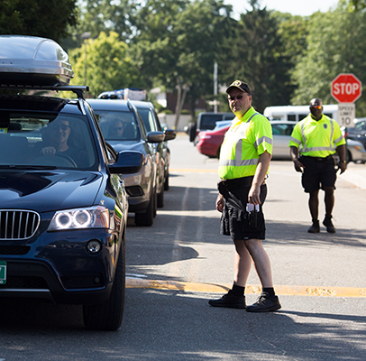 Traffic patrol at Adelphi helps visitors park on campus