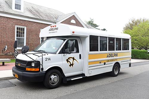 Adelphi's Shuttle Bus