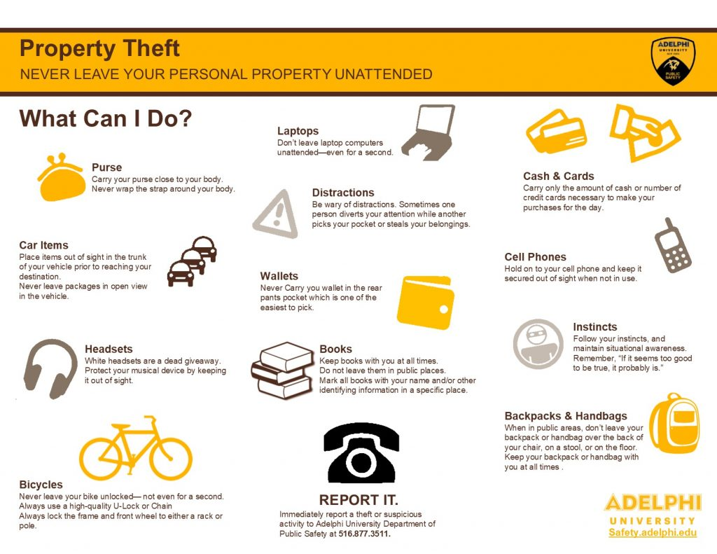 Adelphi Property Theft Graphic