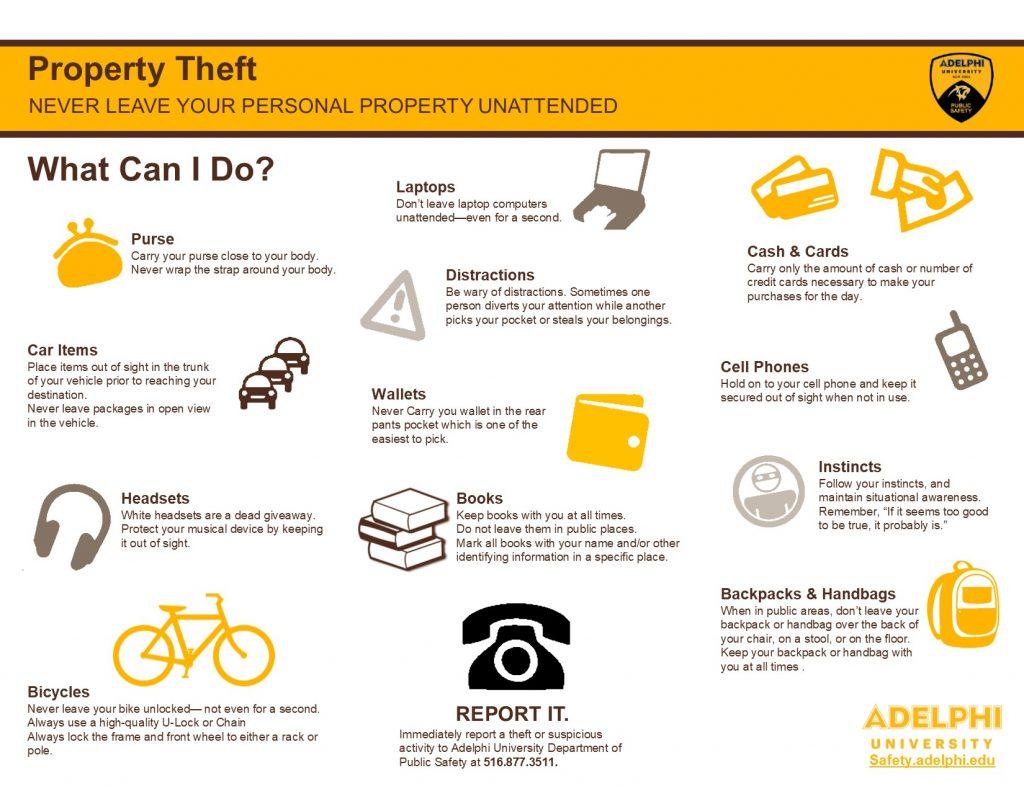 Adelphi Property Theft Graphic
